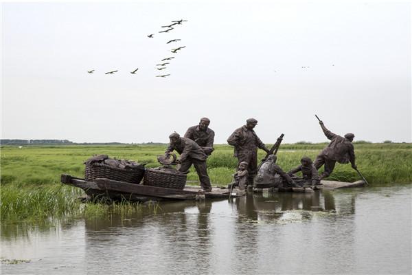 摄影:李晓英  作品名:《北大荒记忆》             拍摄地点:双鸭山市雁窝岛湿地