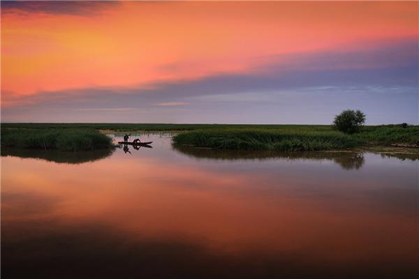 摄影:逯  云  作品名:《长林岛湿地》             拍摄地点:双鸭山市长林岛湿地