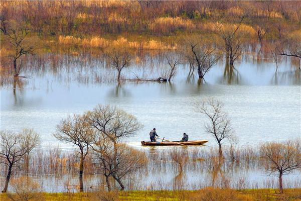 摄影:佚  名  作品名:《悠闲》                  拍摄地点:双鸭山市饶河北大桥