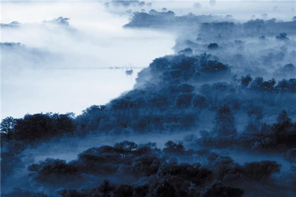 摄影:于国军  作品名:《雾锁乌苏里》            拍摄地点:双鸭山市小木河湿地