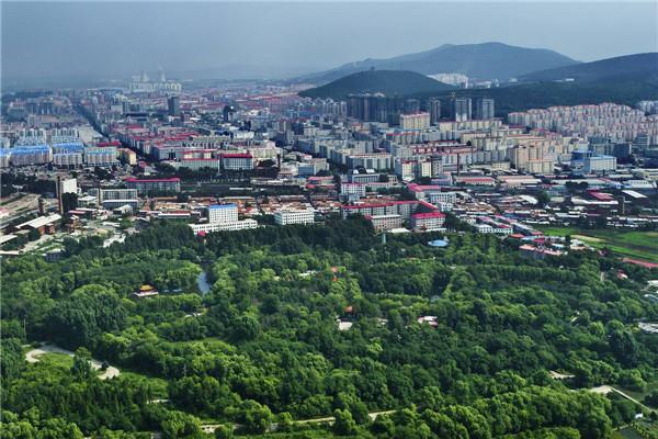 摄影:于国军  作品名:《鸟瞰双鸭山》            拍摄地点:双鸭山市