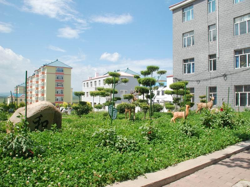 宝山区新宝大街路边绿化小品园