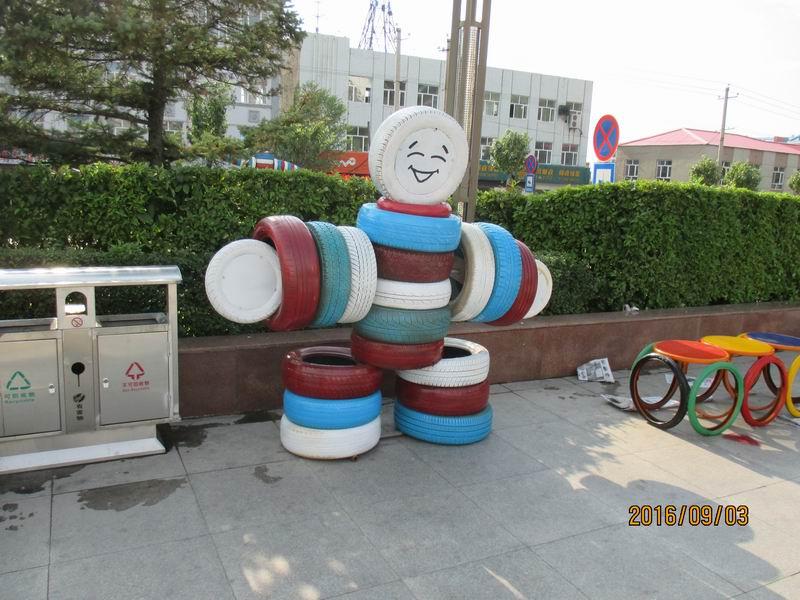 宝山区轮胎艺术造型5