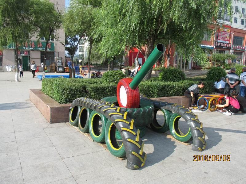 宝山区轮胎艺术造型3