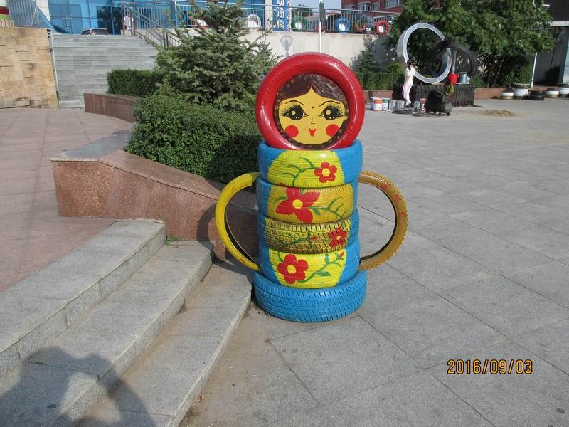 宝山区轮胎艺术造型